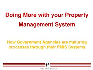 Ever changing property management function: