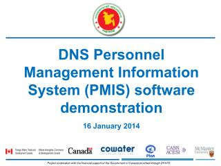 DNS Personnel Management Information System (PMIS) software demonstration 16 January 2014