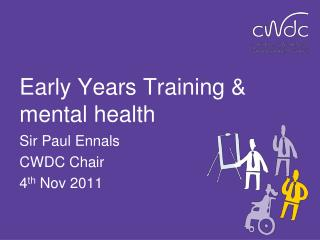 Early Years Training & mental health