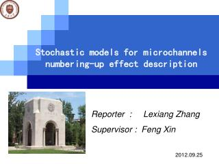 Stochastic models for microchannels numbering-up effect description