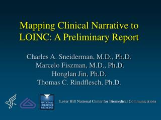 Mapping Clinical Narrative to LOINC: A Preliminary Report