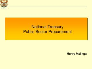 National Treasury  Public Sector Procurement