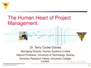 The Human Heart of Project Management.