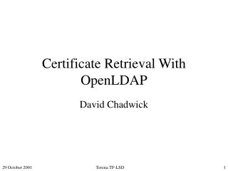 Certificate Retrieval With OpenLDAP