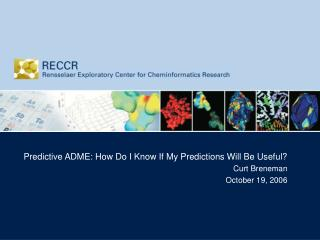 Predictive ADME: How Do I Know If My Predictions Will Be Useful? Curt Breneman October 19, 2006