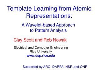 Template Learning from Atomic Representations: