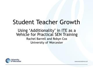 Student Teacher Growth