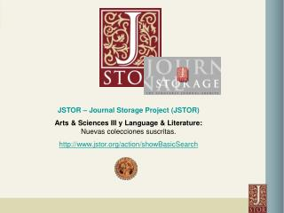 JSTOR – Journal Storage Project (JSTOR)