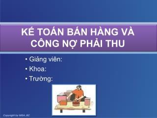 K? TO�N B�N H�NG V� C�NG N? PH?I THU