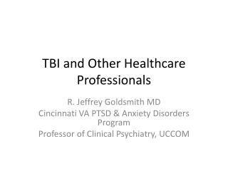 TBI and Other Healthcare Professionals