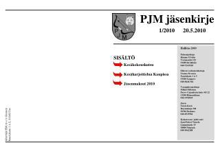 PJM jäsenkirje
