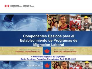 Componentes Basicos para el Establecimiento de Programas de Migración Laboral