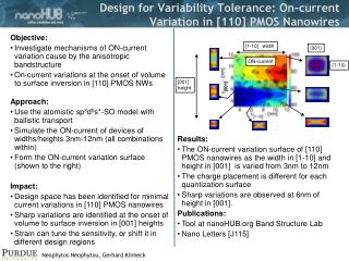 Design for Variability Tolerance: On-current Variation in [110] PMOS Nanowires