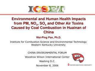 Institute for Combustion Science and Environmental Technology Western Kentucky University