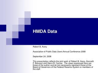 HMDA Data