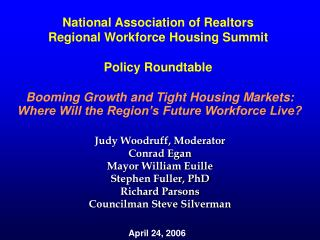 Booming Growth and Tight Housing Markets: Where Will the Region's Future Workforce Live?