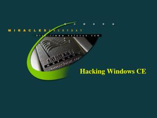 Hacking Windows CE