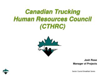 Canadian Trucking  Human Resources Council  (CTHRC)
