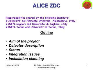 ALICE ZDC