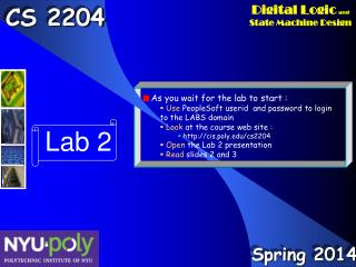 Lab 2 Outline Presentation Using  CS2204 Lab  & Engineering Fundamentals