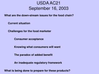 USDA AC21 September 16, 2003