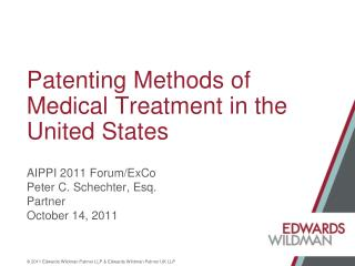 Patenting Methods of Medical Treatment in the United States
