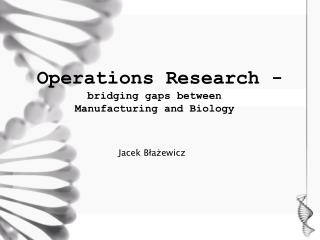 Operations Research -