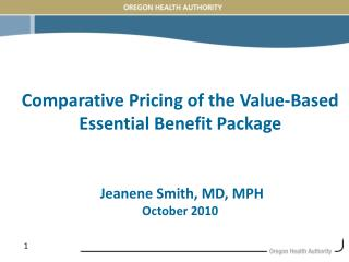 Value-Based Essential Benefits Package (VBEBP)