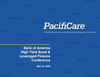 Bank of America High Yield Bond &   Leveraged Finance Conference May 22, 2002