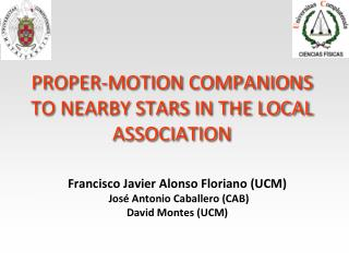Proper-motion companions to nearby stars in the local association