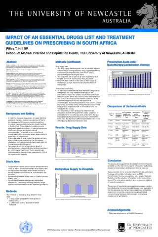 IMPACT OF AN ESSENTIAL DRUGS LIST AND TREATMENT GUIDELINES ON PRESCRIBING IN SOUTH AFRICA