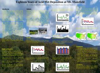 Eighteen Years of Acid Wet Deposition at Mt. Mansfield