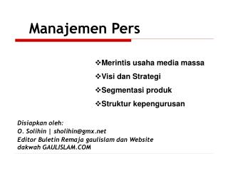 Manajemen Pers