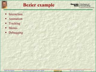 Bezier example