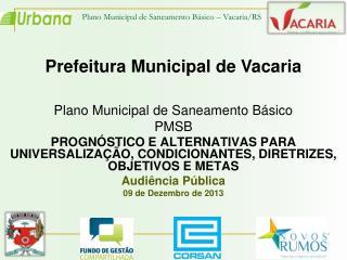 Plano Municipal de Saneamento Básico  PMSB