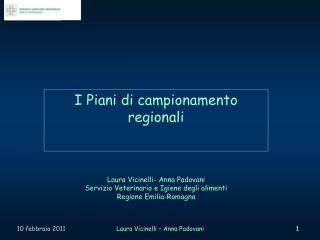 I Piani di campionamento regionali