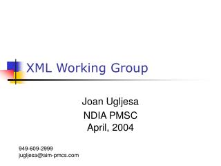 XML Working Group