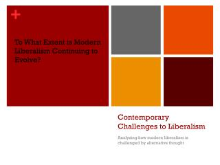 Contemporary Challenges to Liberalism