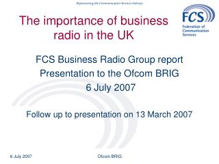 The importance of business radio in the UK