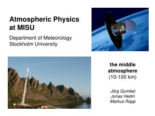 Atmospheric Physics  at MISU Department of Meteorology Stockholm University