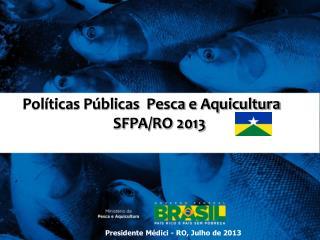 Políticas Públicas  Pesca e Aquicultura SFPA/RO 2013