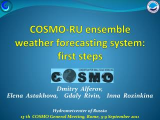 COSMO-RU ensemble weather forecasting system: first steps