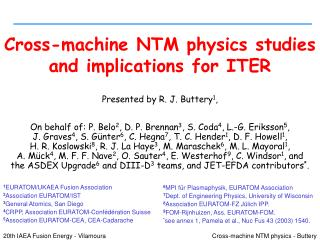 Cross-machine NTM physics studies and implications for ITER