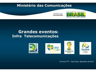 Grandes eventos :  Infra  Telecomunicações
