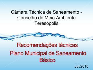 Câmara Técnica de Saneamento - Conselho de Meio Ambiente  Teresópolis
