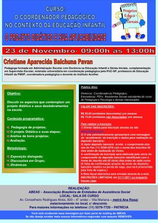 REALIZAÇÃO:    ABEAS  –  Associação Brasileira de Entidades de Assistência Social