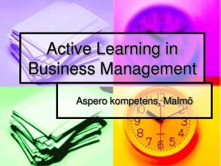 Active Learning in Business Management
