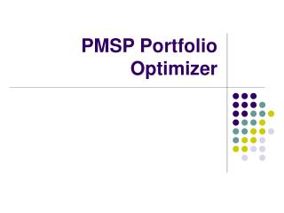 PMSP Portfolio Optimizer