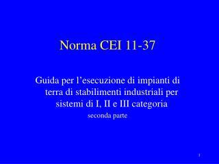 Norma CEI 11-37