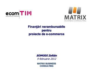 Finanţări nerambursabile  pentru  proiecte de e-commerce